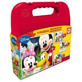 Puzzle Progresivo Mickey Mouse Club House Disney 12-16-20-25Pzs