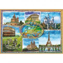 Puzzle Siete Maravillas de Europa 1500Pz
