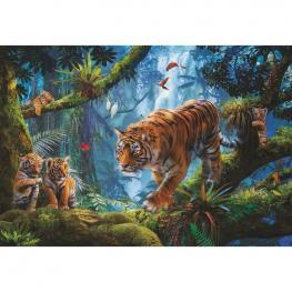 Puzzle Tigres En el Arbol 1000Pz