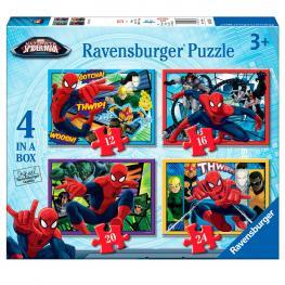 Puzzle Ultimate Spiderman Marvel 12-16-20-24Pz