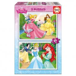 Puzzles Princesas Disney 2X20Pz