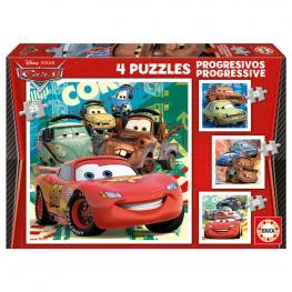 Puzzles Progresivos Cars Disney 12-16-20-25Pz