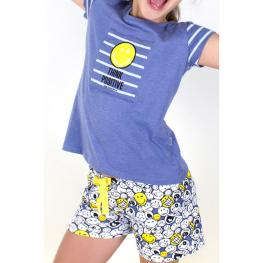 Pijama Smiley Think Positive Juvenil