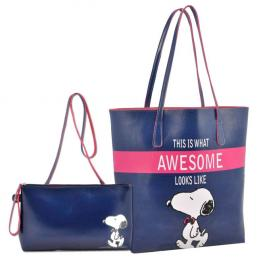 Set 2 Bolsos Snoopy Blue