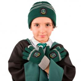 Set Gorro + Guantes Slytherin Harry Potter Infantil
