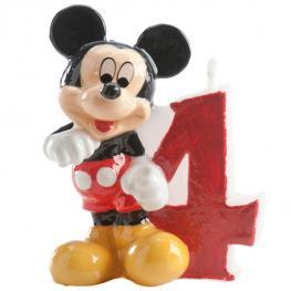 Vela 4 Cumpleaños Mickey Disney