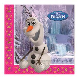 Set 20 Servilletas Papel Frozen Disney