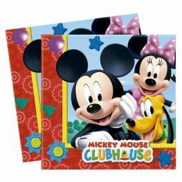 Set 20 Servilletas Papel Mickey Disney