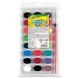 Set 24 Acuarelas Lavables Crayola