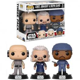 Set 3 Figuras Pop Star Wars Lobot Ugnaught And Bespin Guard Exclusive
