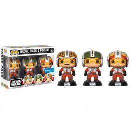 Set 3 Figuras Pop Star Wars Pilots Wedge Biggs & Porkins Exclusive