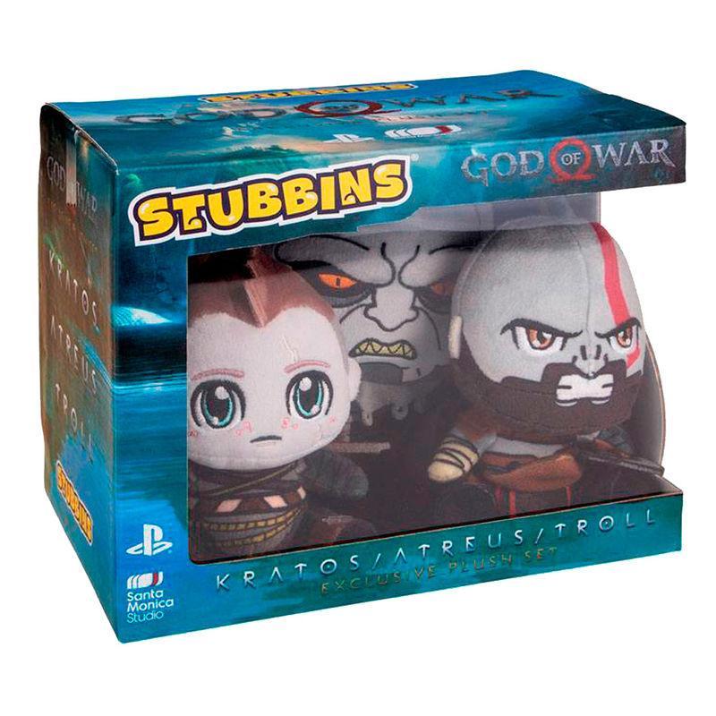 Set 3 Peluches Stubbins God Of War 16Cm