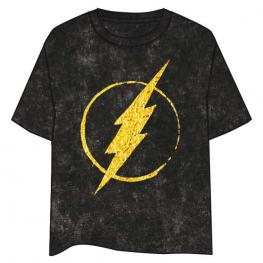 Camiseta Logo Flash Gold Dc Comics Adulto