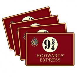Set 4 Manteles Hogwarts Express 9 3/4 Harry Potter