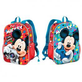 Mochila Reversible Mickey Disney Say Cheese 32Cm