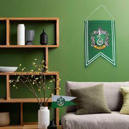 Set Bandera y Banderin Slytherin Harry Potter