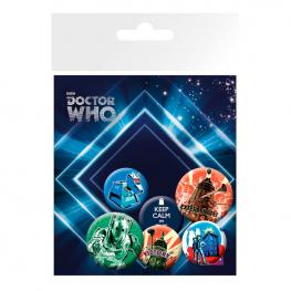 Set Chapas Retro Doctor Who