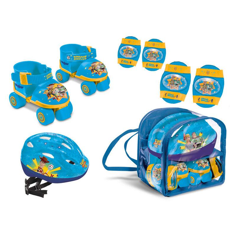 Set Patines + Protectores + Casco Toy Story 4 Disney