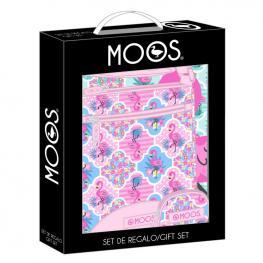 Set Regalo Moos Flamingo Pink