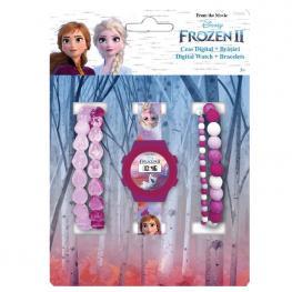 Set Reloj Digital + Pulseras Frozen 2 Disney