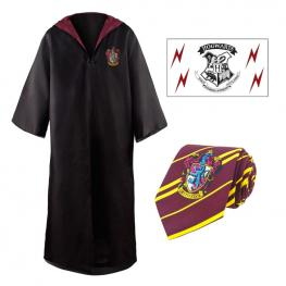 Set Tunica + Corbata + Tatuaje Gryffindor Harry Potter