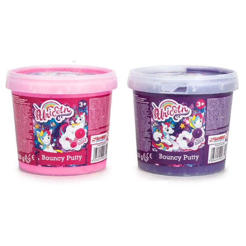 Slime Bouncy Putty Unicorn Surtido