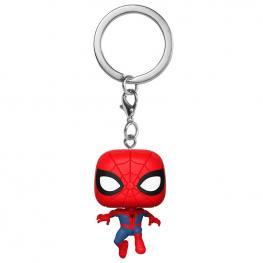 Llavero Pocket Pop Marvel Animated Spiderman Peter Parker