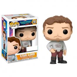 Figura Pop Marvel Guardians Of The Galaxy Star-Lord With Gear Shift Shirt Exclusive