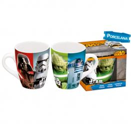 Taza Barrilete Porcelana Star Wars Classic