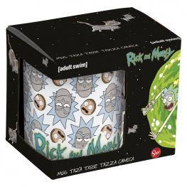 Taza Ceramica Rick & Morty Faces