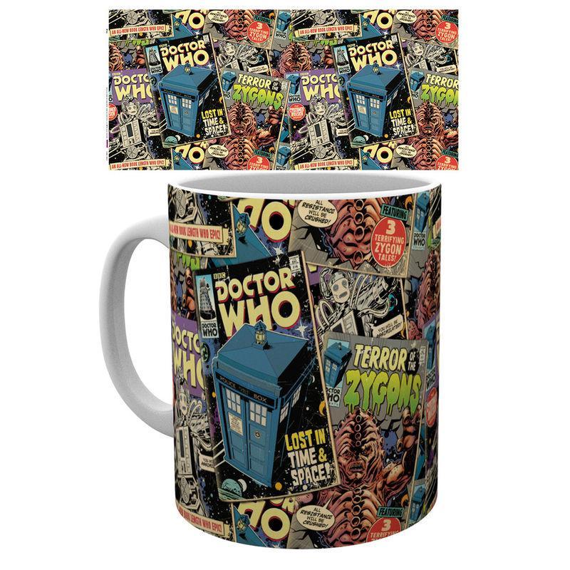 Taza Doctor Who Comic Books