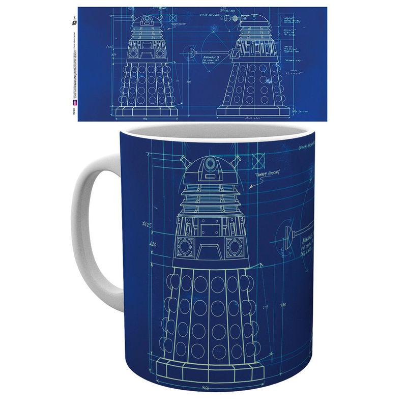 Taza Doctor Who Dalek Blueprint