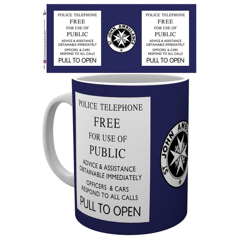 Taza Doctor Who Tardis Sign