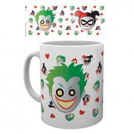 Taza Emoji Harley And Joker Dc