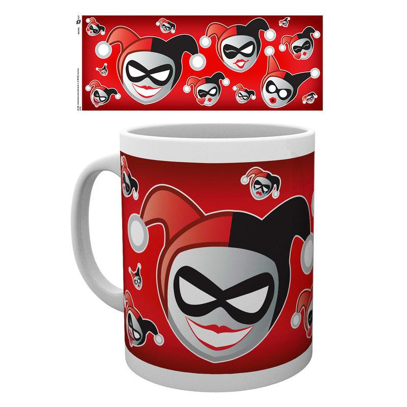 Taza Emoji Harley And Joker Dc