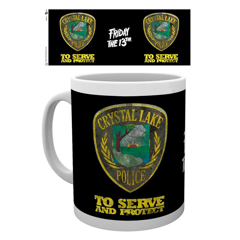Taza Friday The 13Th Police Badge