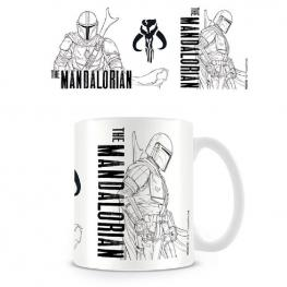 Taza Line Art The Mandalorian Star Wars