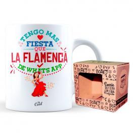Taza Tengo Mas Fiesta Que la Flamenca del Whatsapp