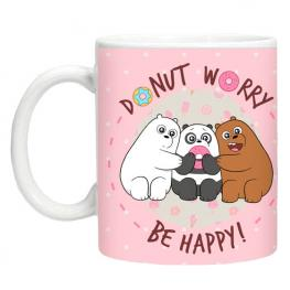 Taza We Bare Bears Rosa