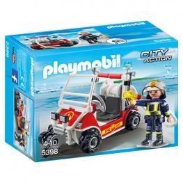 Coche de Bomberos Aeropuerto Playmobil City Action
