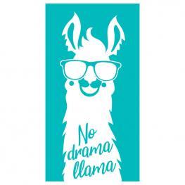 Toalla No Drama Llama Face Microfibra
