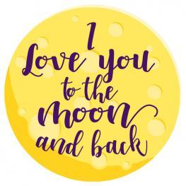 Toalla Redonda I Love You To The Moon And Back Microfibra