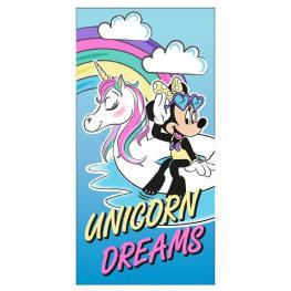 Toalla Unicorn Dreams Minnie Disney Microfibra