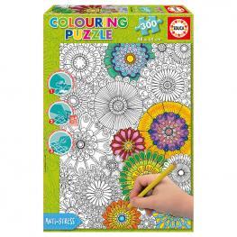Puzzle Coloreable Big Beautiful Blossoms 300Pz