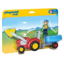 Tractor Con Remolque Playmobil 1.2.3