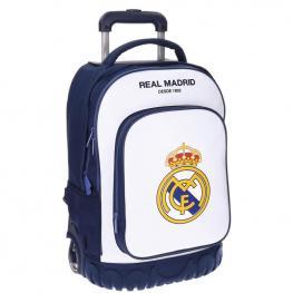 Trolley Mochila Real Madrid Campus 2R Blanco 50Cm