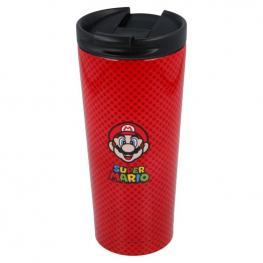 Vaso Cafe Acero Inoxidable Super Mario Bros Nintendo 425Ml