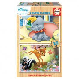 Puzzle Disney Animals Dumbo + Bambi 2X16Pz