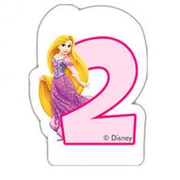 Vela 2 Cumpleaños Princesas Disney Glamour