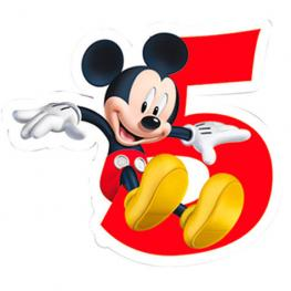 Vela 5 Cumpleaños Mickey Disney Playful